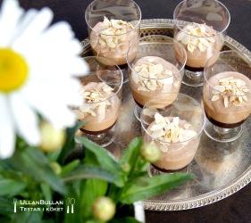 Mjölkchokladmousse med kolasås