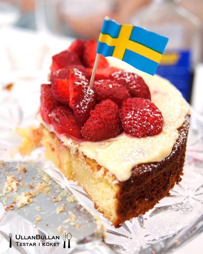 Midsommartårta vit choklad