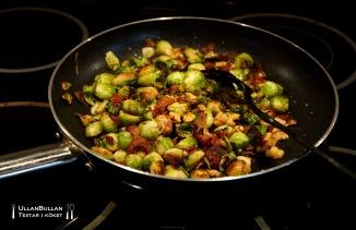 Brysselkål Bacon Valnötter Recept
