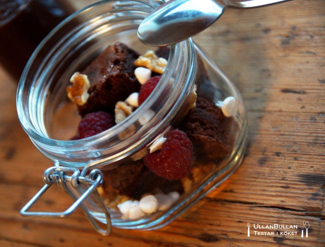 Dessert i glasburk Recept