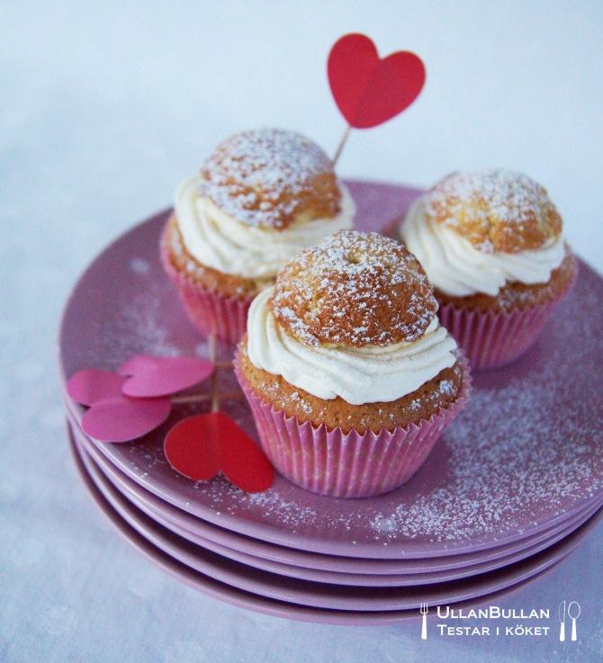 Semla muffins cupcake